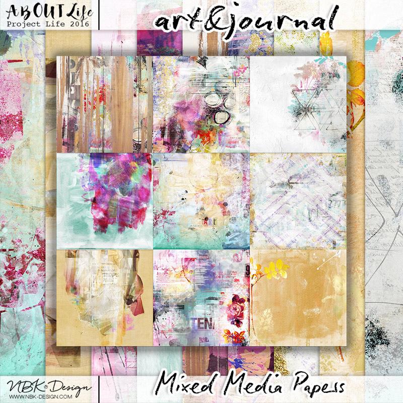art & journal {Paperset: Mixed media}
