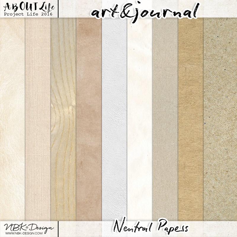 art & journal {Paperset: Neutrals}