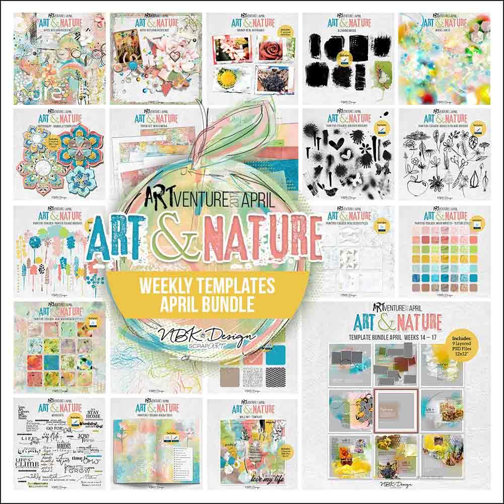 Art & Nature {Megabundle Weekly Templates March 2017 | Weeks 14 – 17}