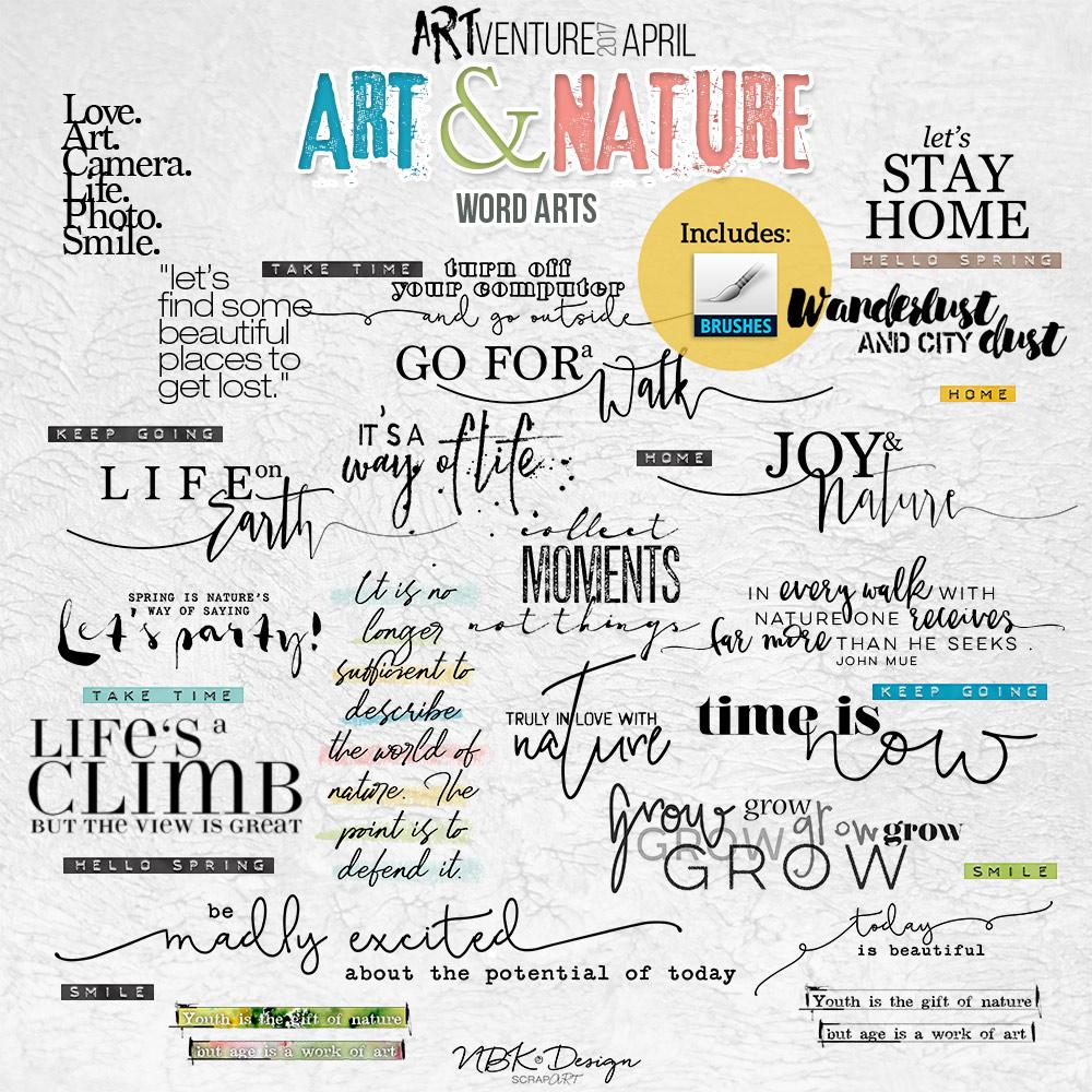 Art & Nature {Word Arts}