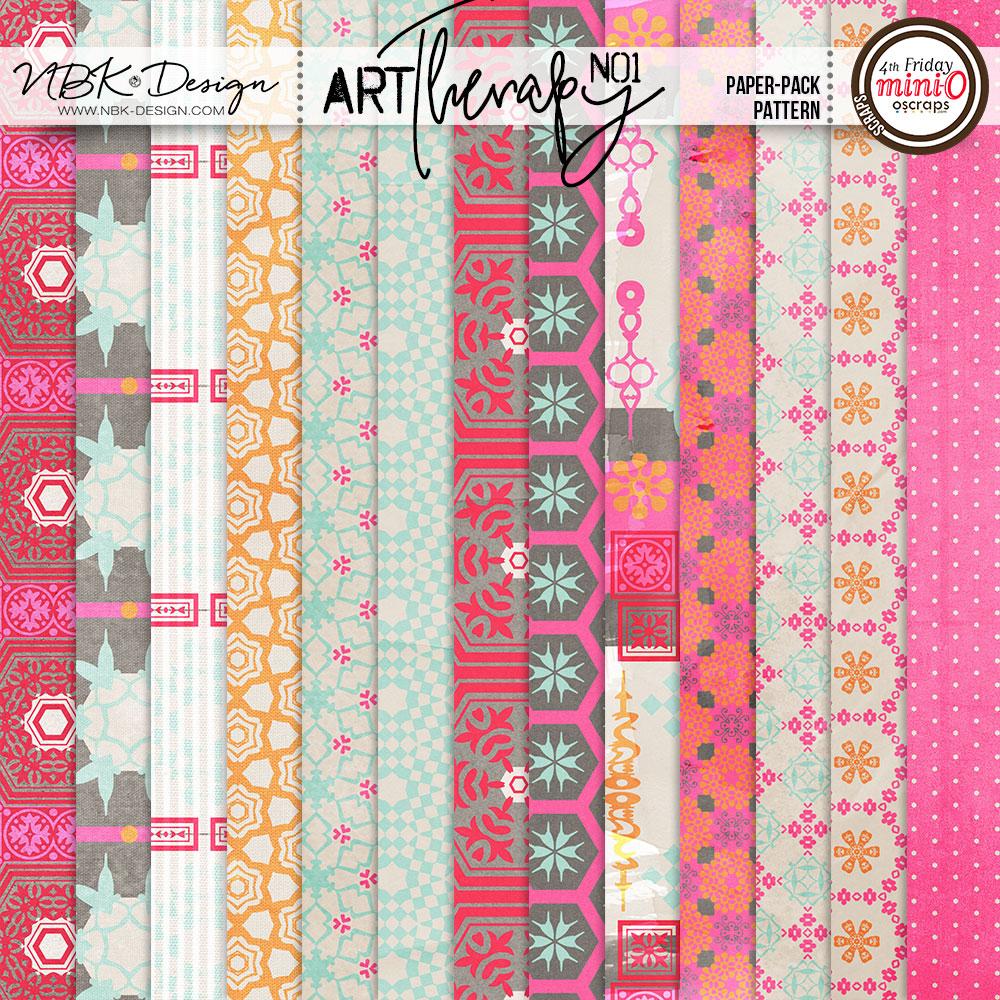 artTherapy No1 {Paper-Set: Pattern}