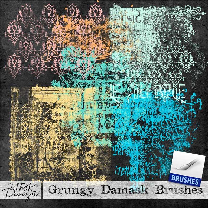 Grungy Damask Brushes