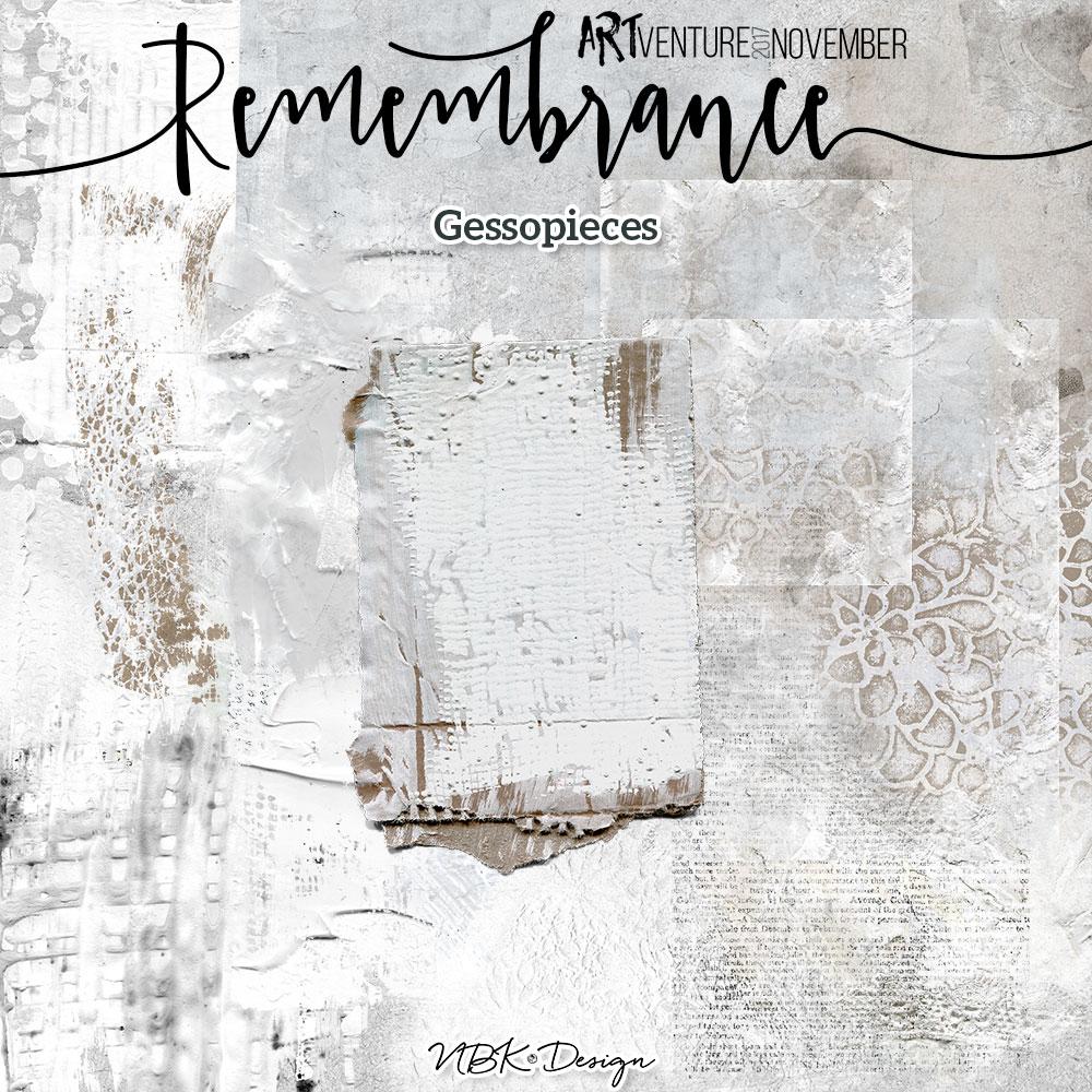 Remembrance {Gesso pieces}