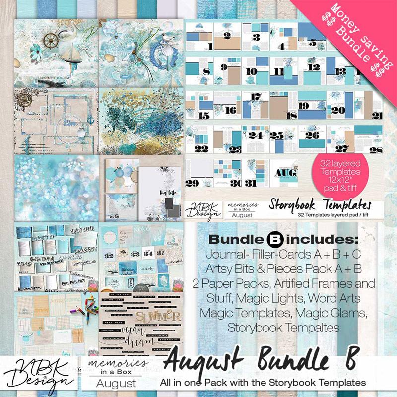 August {Megabundle B | Storybook Templates 2015}
