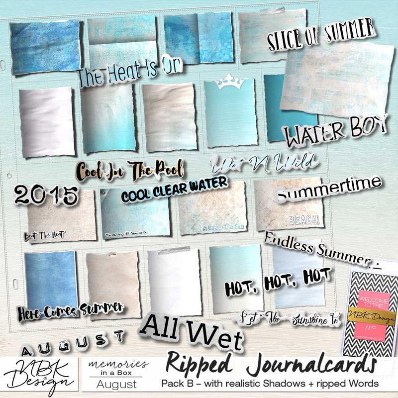 August {Journal- & Filler-Cards Set B}