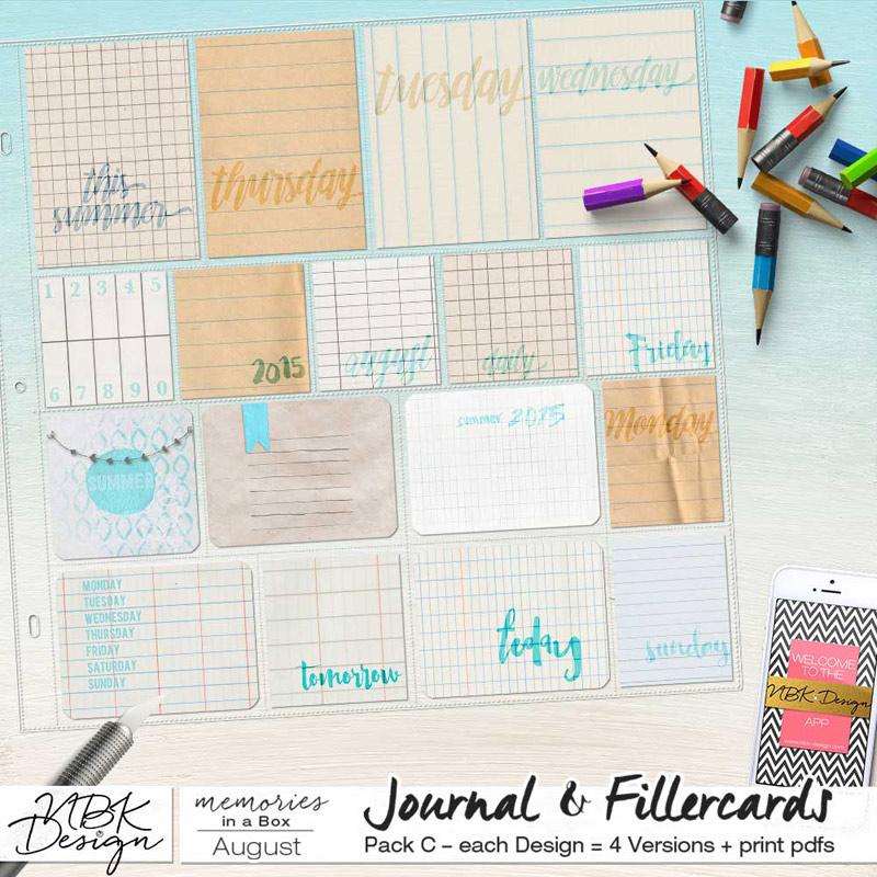 August {Journal- & Filler-Cards Set C}