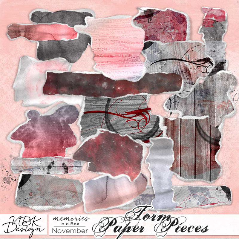 November {Ripped Paper Pieces}