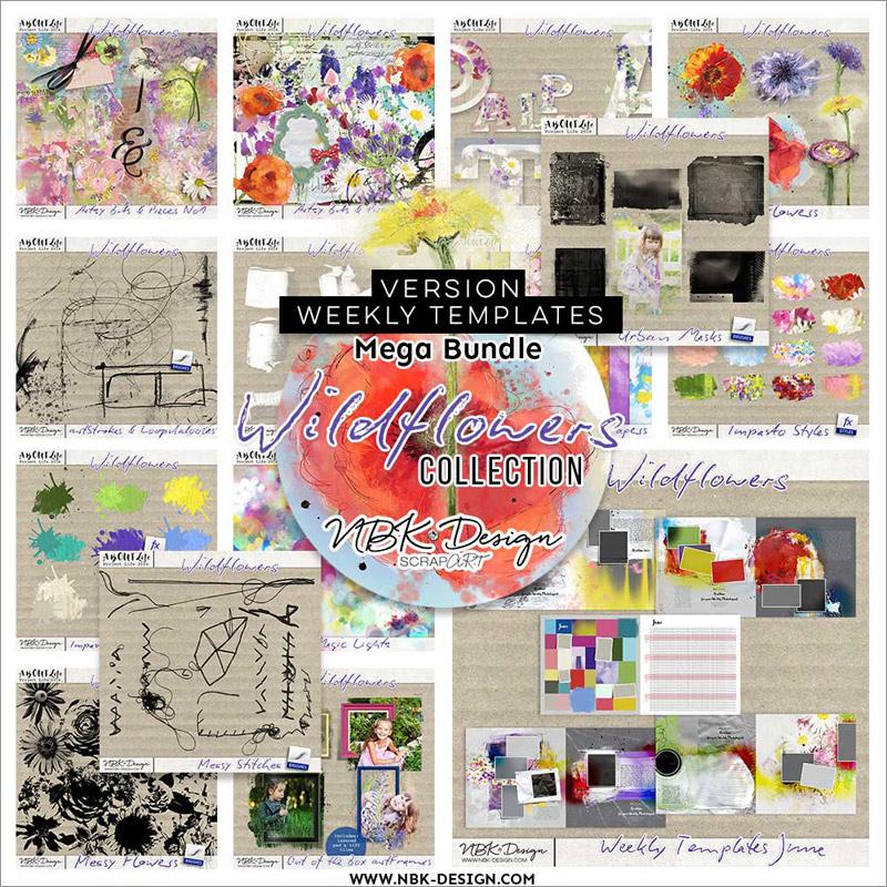 Wildflowers {Megabundle Weekly Templates June 2016}