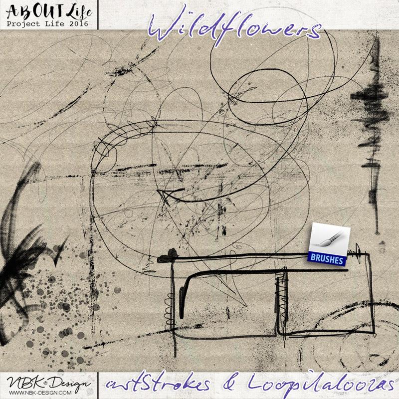Wildflowers {artStrokes + Loopilaloozas}