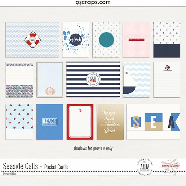 Seaside Calls | Pocket Cards