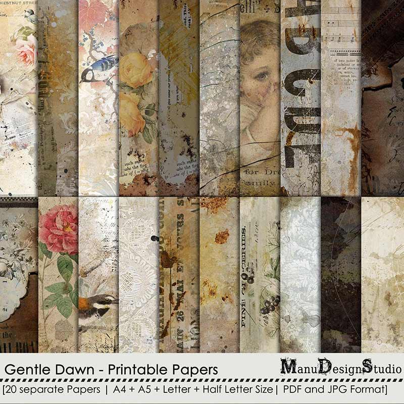 Gentle Dawn - Printable Papers