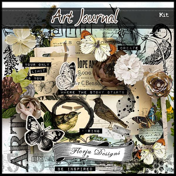 Art Journal { Kit PU } by Florju Designs