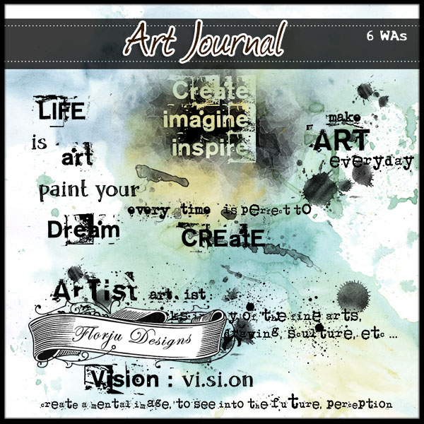 Art Journal { English WAs PU } by Florju Designs