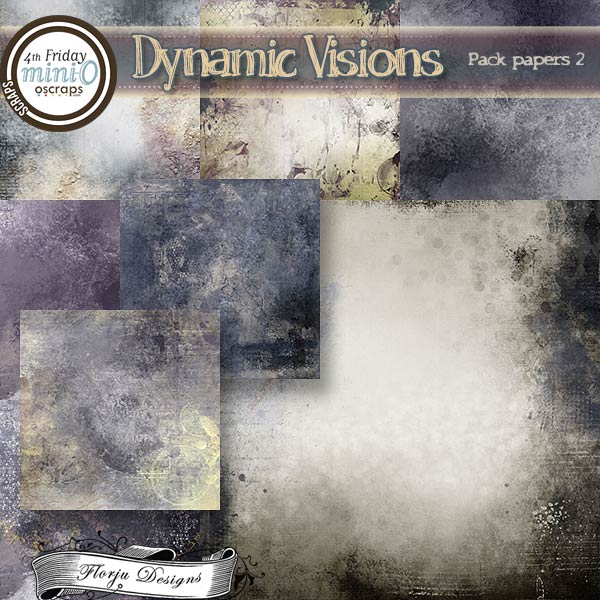 Dynamic Visions { Paper Pack 2 PU } by Florju Designs
