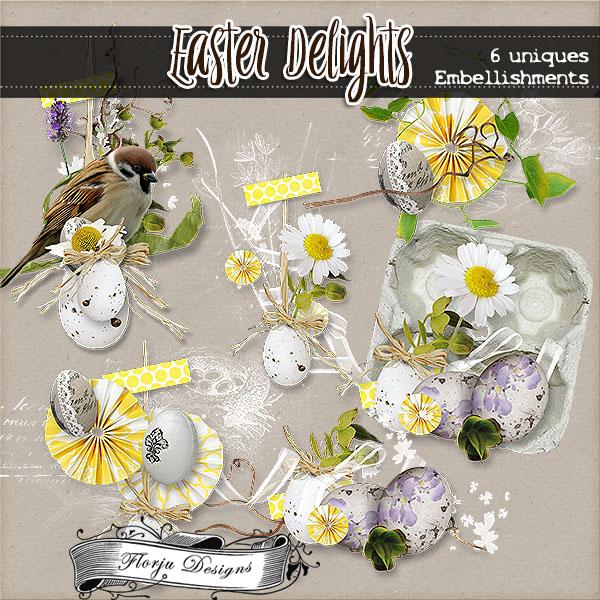 Easter Delights { Embellishments PU } Florju Designs