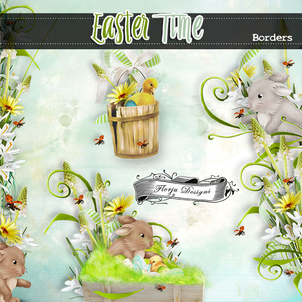 Easter Time { Borders PU } by Florju Designs