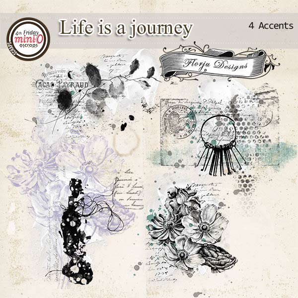 Life is a journey [ Accents PU ] by Florju Designs