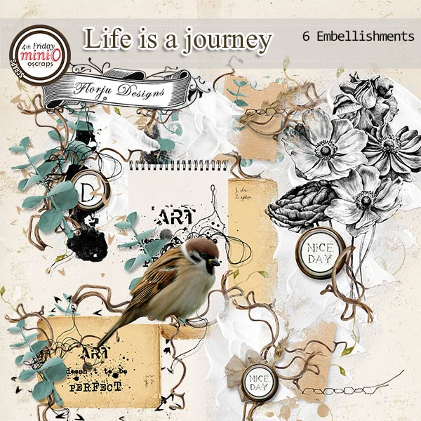 Life is a journey [ Embellishments PU ] by Florju Designs