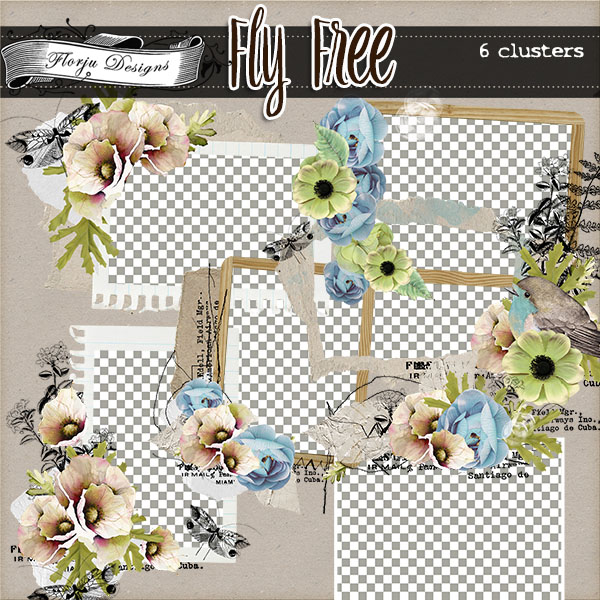 Fly Free { Clusters PU } by Florju Designs