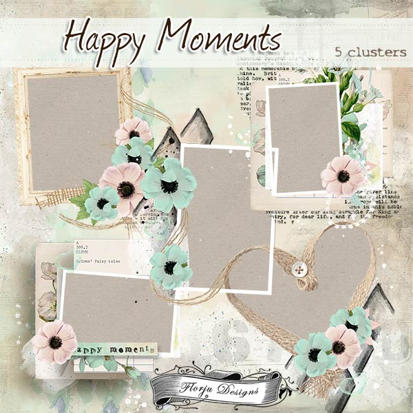 Happy Moments { Clusters PU } by Florju Designs