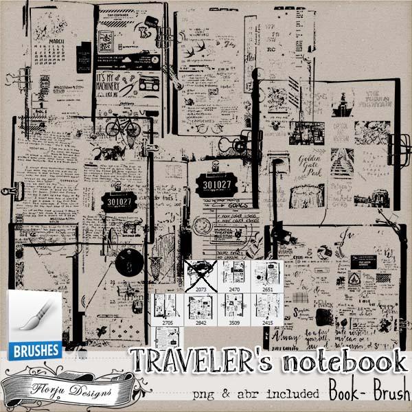Traveler's Notebook { Book Brush PU } by Florju Designs