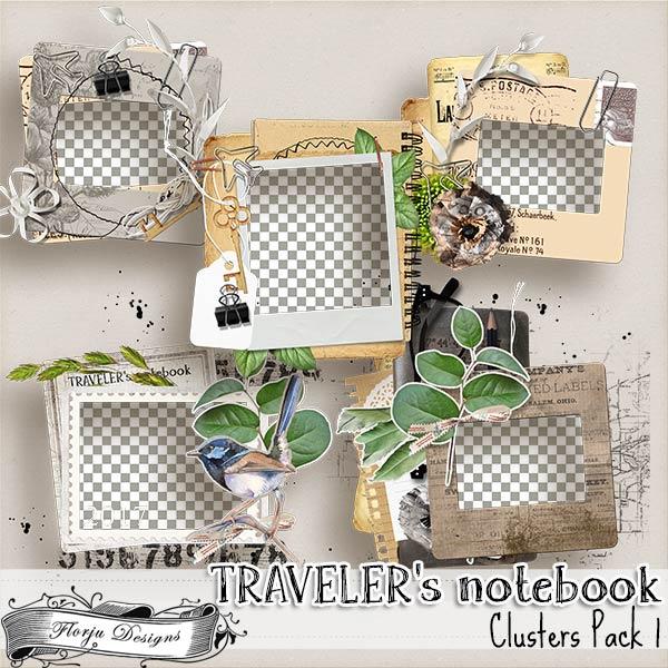 Traveler's Notebook { Cluster pack 1 PU } by Florju Designs