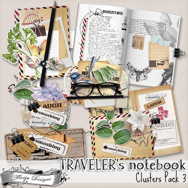 Traveler's Notebook { Cluster pack 3 PU } by Florju Designs