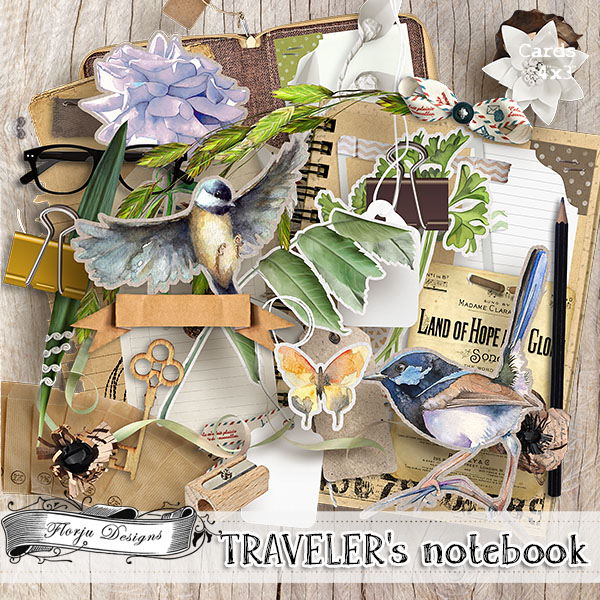 Traveler's Notebook { Kit PU } by Florju Designs