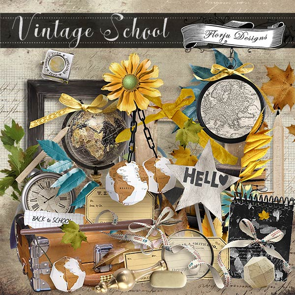 Vintage School { Kit PU } by Florju Designs
