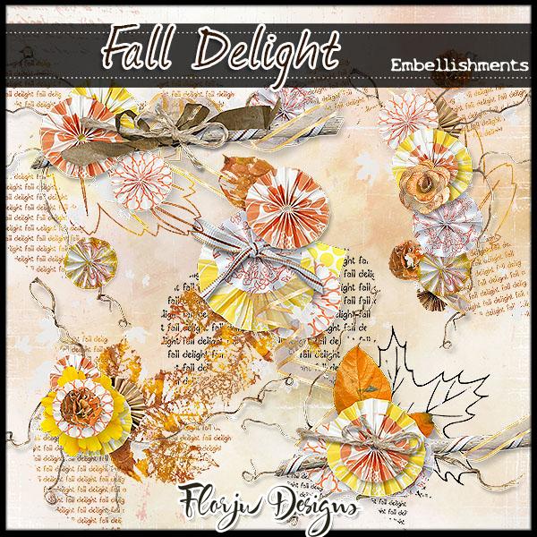 Fall delight Embellishments