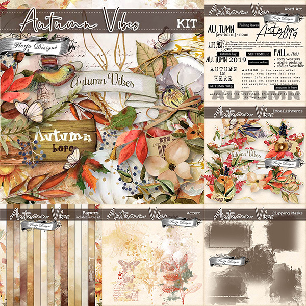 Autumn Vibes [ Bundle PU ] by Florju Designs