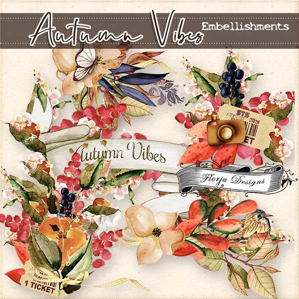 Autumn Vibes [ Embellishments PU ] by Florju Designs