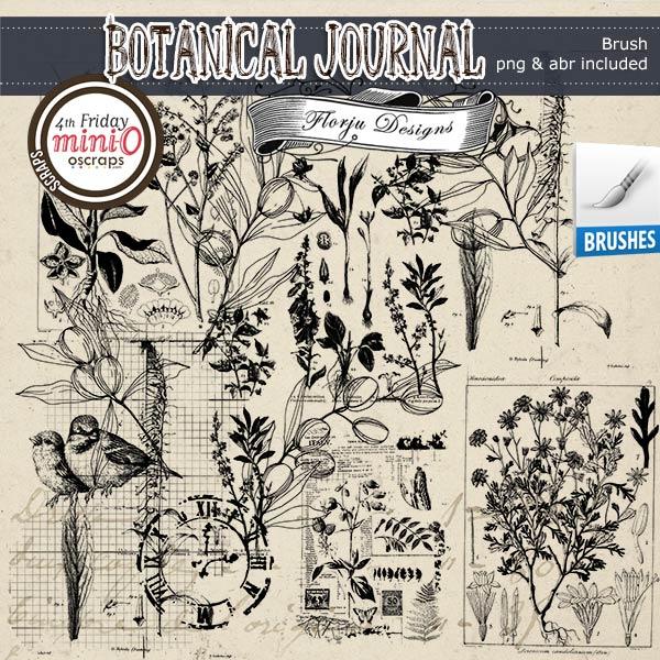 Botanical Journal [ Brush PU ] by Florju Designs