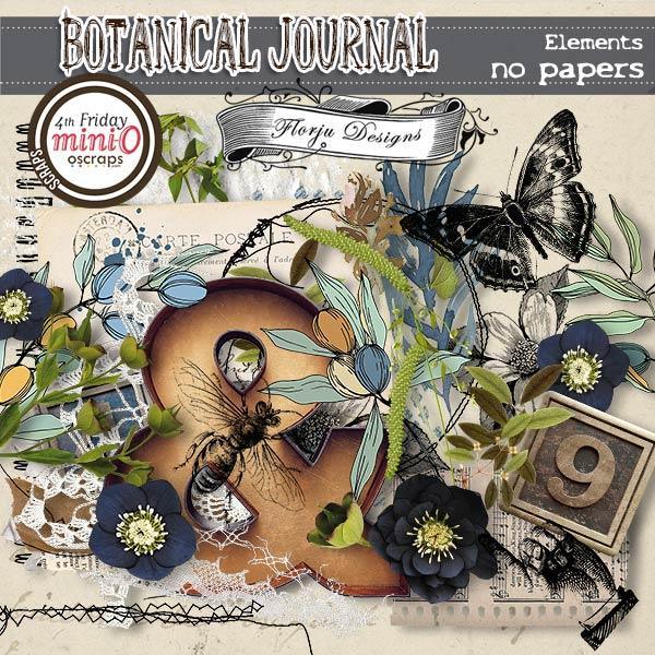 Botanical Journal [ Elements PU ] by Florju Designs