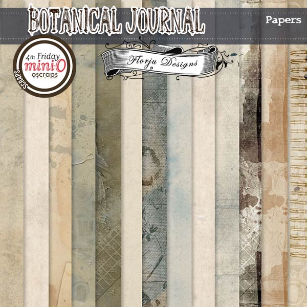 Botanical Journal [ papers PU ] by Florju Designs