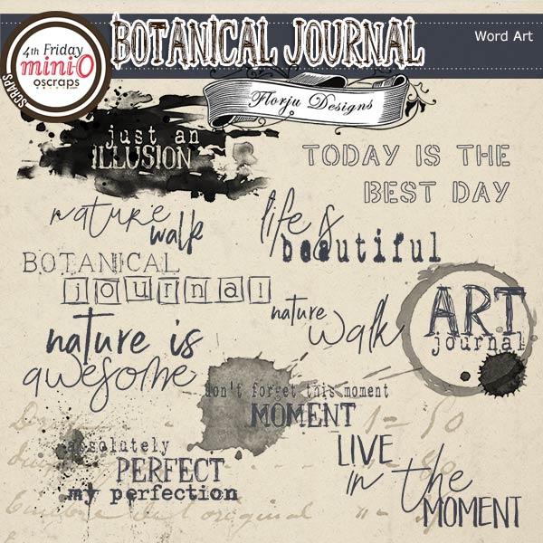 Botanical Journal [ Word art PU ] by Florju Designs