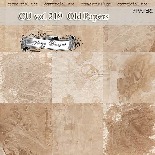 CU vol 319 Vintage Papers by Florju designs