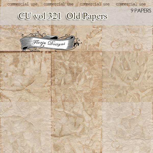 CU vol 321 Vintage Papers by Florju designs