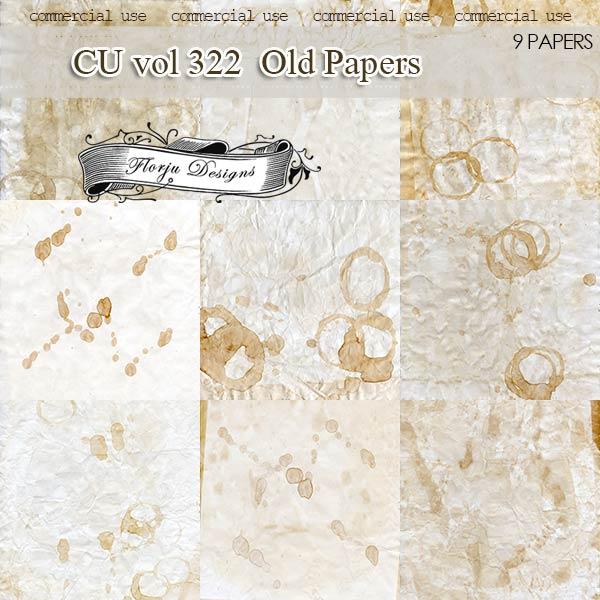CU vol 322 Vintage Papers by Florju designs