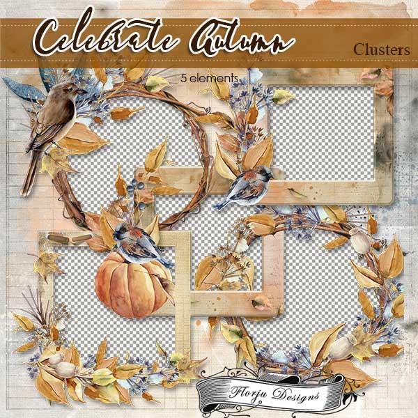 Celebrate Autumn [ Clusters PU ] by Florju Designs