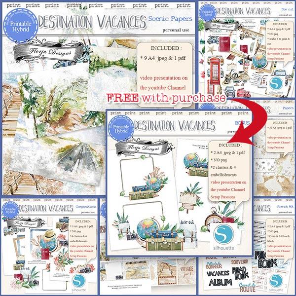 Destination Vacances BUNDLE PU by Florju Designs