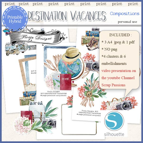 Destination Vacances Composition PU by Florju Designs