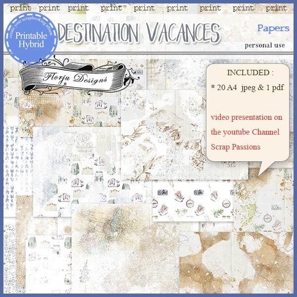 Destination Vacances Papers PU by Florju Designs