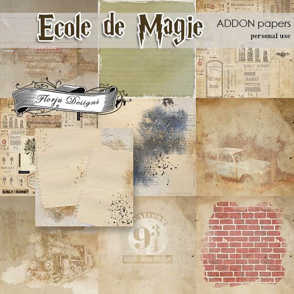 Ecole de magie Addon Papers PU by Florju Designs