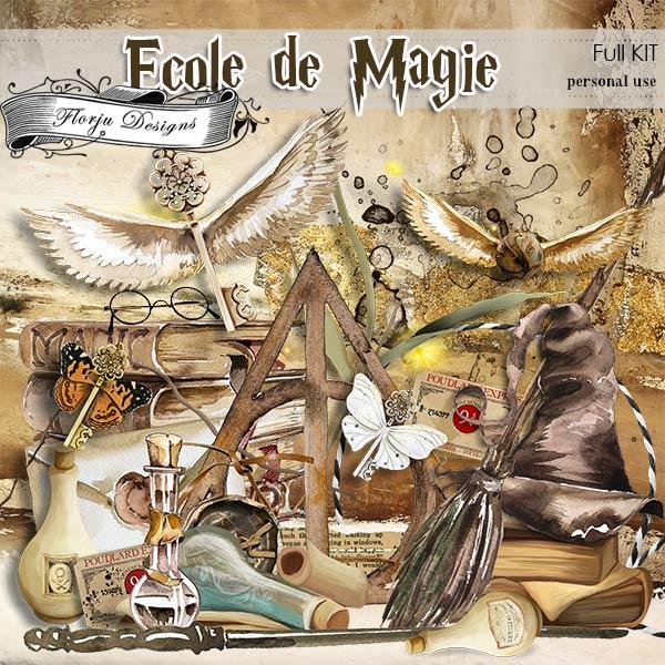 Ecole de magie KIT PU by Florju Designs