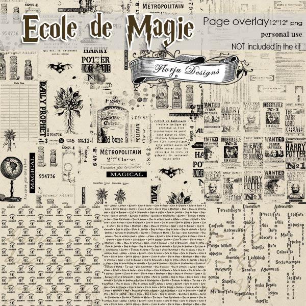 Ecole de magie Pages Overlays PU by Florju Designs