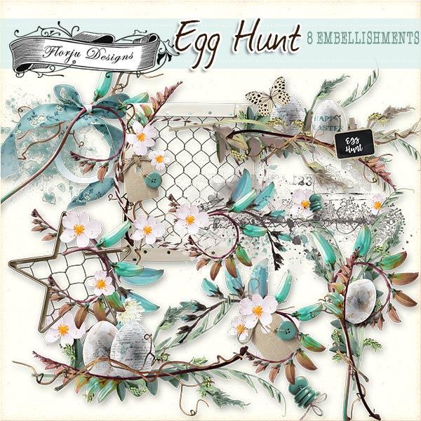 Egg Hunt [ Embellishment PU ] by Florju Designs