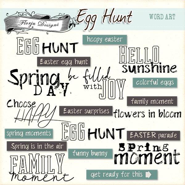 Egg Hunt [ English Word Art PU ] by Florju Designs