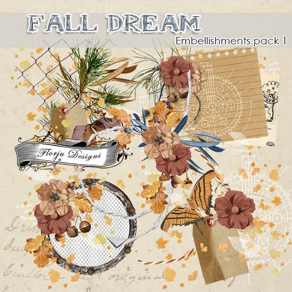 Fall Dream [ Embellishments pack 1 PU ] by Florju Designs