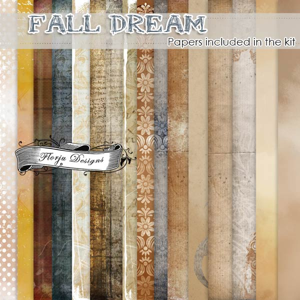Fall Dream [ Papers included in the kit PU ] by Florju Designs